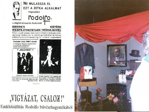 Rodolfo emlékkiállítás plakát