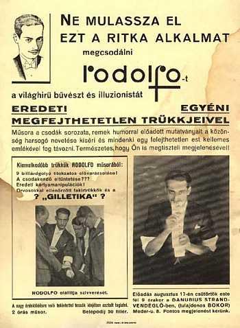 Rodolfo fellépési plakát