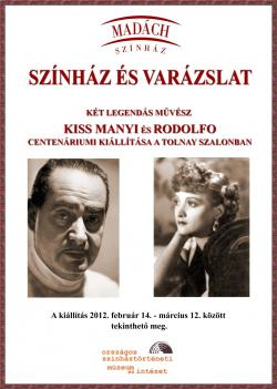 Rodolfo és Kiss Manyi kiállítás plakát