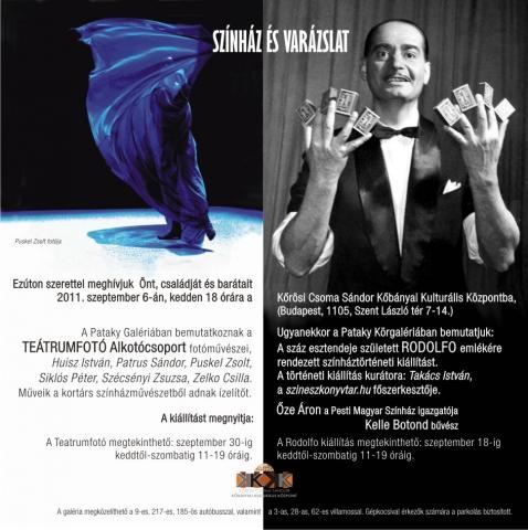 Rodolfo 100 kiállítás meghívó