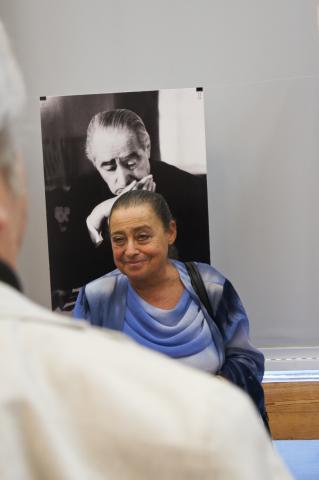 Gács Judit a Rodolfo 100 kiállítás megnyitón