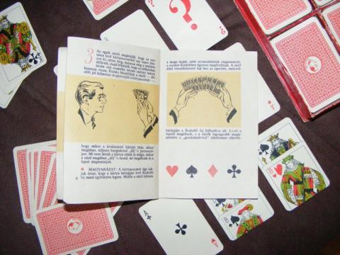 Rodolfo 25 kártyatrükk bűvészdoboz speciális kártyalapjai megoldással