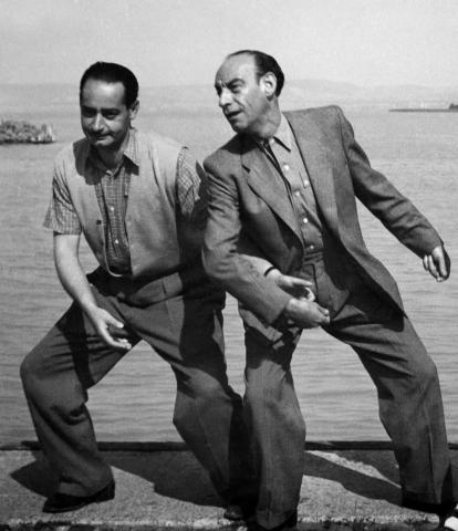 Rodolfo és Latabár Kálmán Siófokon 1950-ben-es-latabar-kalman-1950-siofok